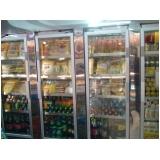 comprar refrigerador vertical com porta de vidro Macaubal
