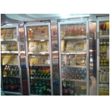 comprar refrigerador vertical porta de vidro Sarapuí