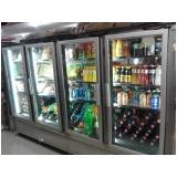 qual o valor refrigerador vertical com porta de vidro Ribeira
