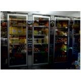 refrigerador vertical com porta de vidro Pereira Barreto