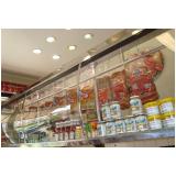 vitrines refrigeradas suspensas em Bauru