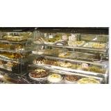 vitrine refrigerada para bolos
